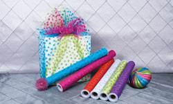 Glitter Organza Rolls with Dots